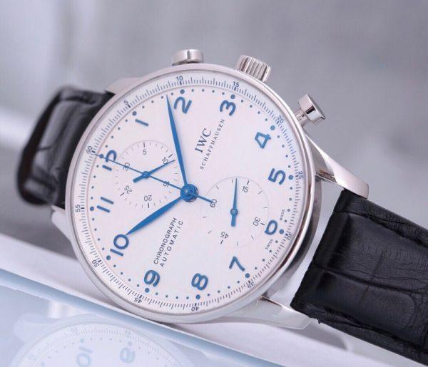 Portuguese Chronograph White Dial IW371446