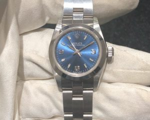 Oyster Perpetual Non-date Steel Blue Dial Ladies 67180