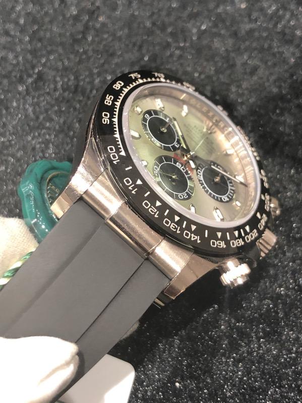 Rolex Daytona White Gold Silver Dial Ceramic Bezel Oysterflex 116519LN