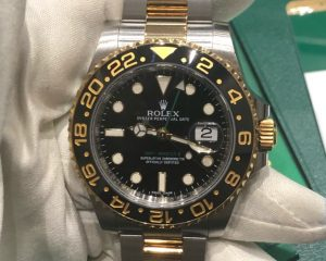 Rolex GMT II Black Dial 18K/SS Automatic 116713LN