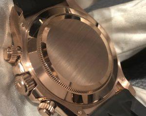 Daytona EveRose Gold Ceramic Choco Dial Rubber Oysterflex 116515LN