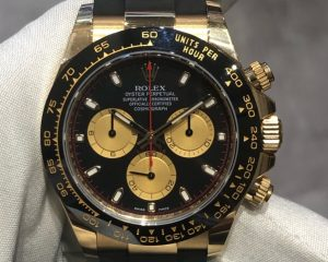 Daytona Yellow Gold Black/Gold Dial Ceramic Bezel Oysterflex 116518LN