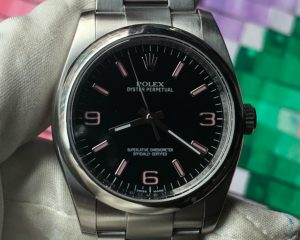 Oyster 116000 Black Dial Pink index 36mm