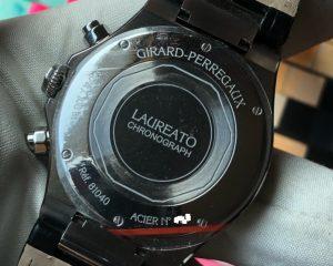 Girard-Perregaux Laureato Steel Black Dial Strap 38mm 1040-11-631-BB6A