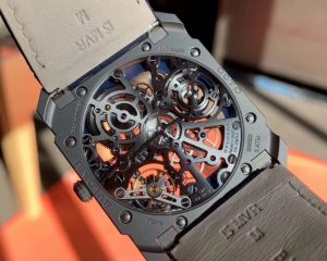 Bulgari Octo Finissimo Skeleton Power Reserve Blue Dial in Titanium 102941