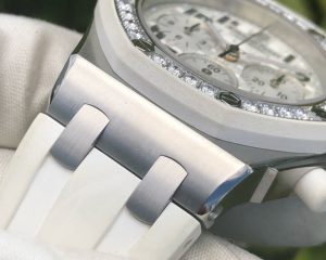 Audemars Piguet Royal Oak Offshore Lady Chronograph White Dial Diamond Bezel 26048SK.ZZ.D010CA.01