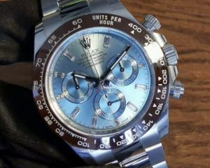 Rolex Cosmograph Daytona Platinum 116506A Ice Blue Diamond Index Dial