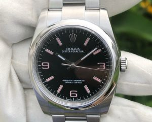 Rolex Oyster 116000 Black Dial with Pink Color index 36mm
