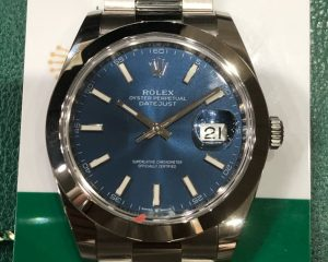 Rolex Oyster Perpetual Datejust 41 Men's Blue Dial 126300