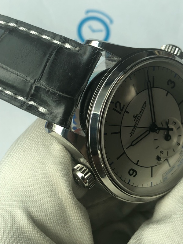 Jaeger-LeCoultre Master Geographic Q1428530 Silver Steel/Leather 39mm176.8.92.S