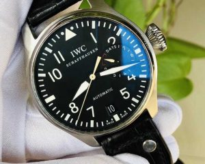IWC Big Pilot 500901 Black Dial Power Reserve Stainless Steel