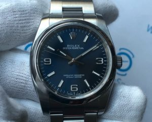 Rolex Oyster 116000 Blue Dial Stainless Steel 36mm Box & Card
