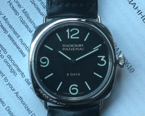 Radiomir PAM610 Black Seal 8 Days Power Reserve 45mm