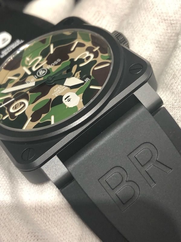 Bell & Ross BR03-92 Green Camo X A BATHING APE Limited Edition