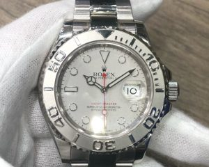 RolexYacht-Master Steel with Platinum Bezel Silver Dial 116622