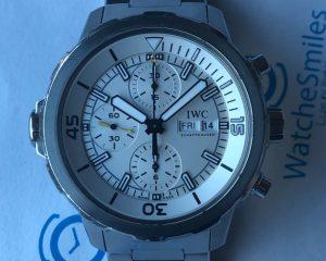 IWC Aquatimer Chronograph Stainless Steel Bracelet White Dial IW376802