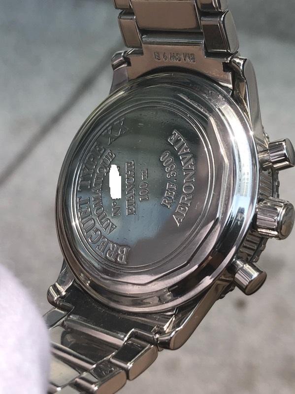Breguet Type XX Aeronavale 3800ST Chronograph Black Dial Bracelet Box & Paper
