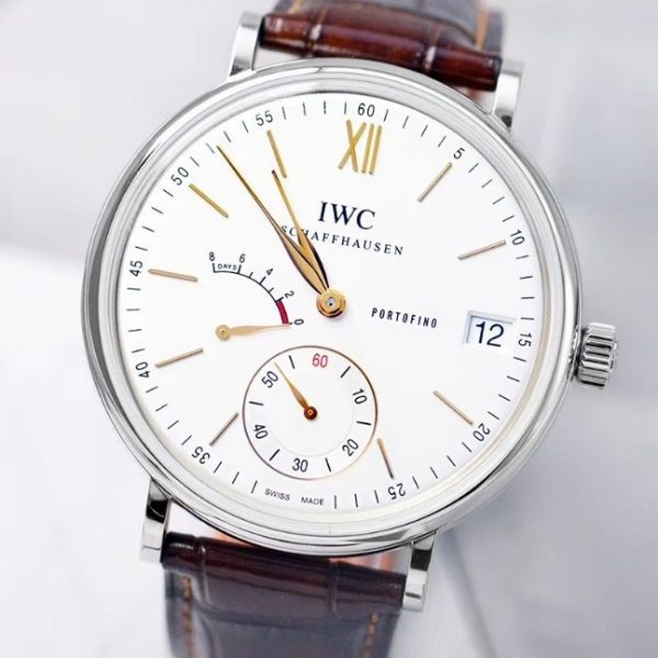 Portofino Hand Wound Eight Days 45mm IW510103 White Dial