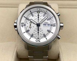 Aquatimer Chronograph Stainless Steel Bracelet White Dial IW376802