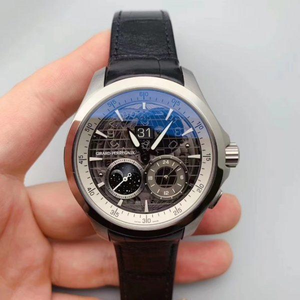 Girard Perregaux Traveller GMT Moonphase Black Dial 49655-11-231-BB6A C56082