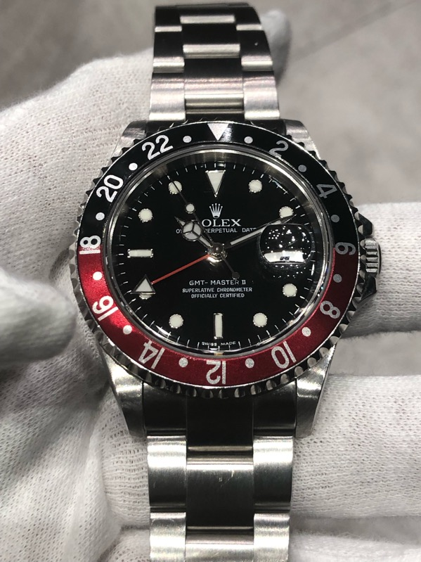 "Rolex GMT-Master II 16710 Red-Black ""Coke Bezel"""