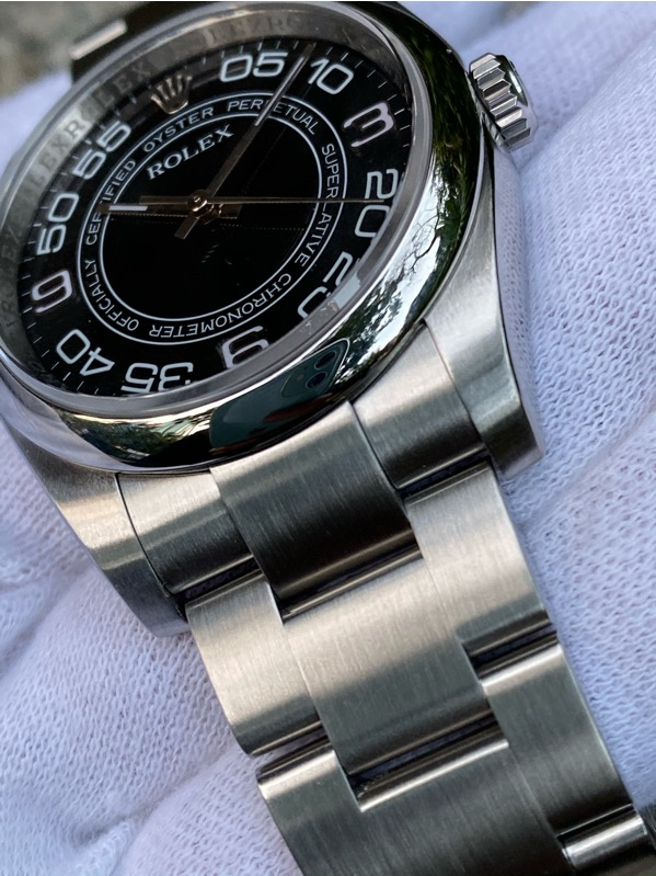 Rolex Oyster Perpetual 116000 Black Concentric Dial 36mm