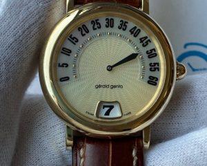 Gerald Genta Retro Sport Jumping Hour Yellow Gold 36mm G.3634