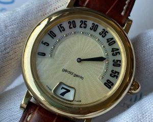 Gerald Genta Retro Sport Jumping Hour Yellow Gold 36mm G.3634