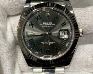 Rolex Datejust 41mm Wimbledon 126334 Gray Slate Dial