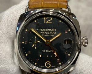 Panerai Radiomir 10 Days GMT Platinum PAM 495 Limited Edition 100 Pcs