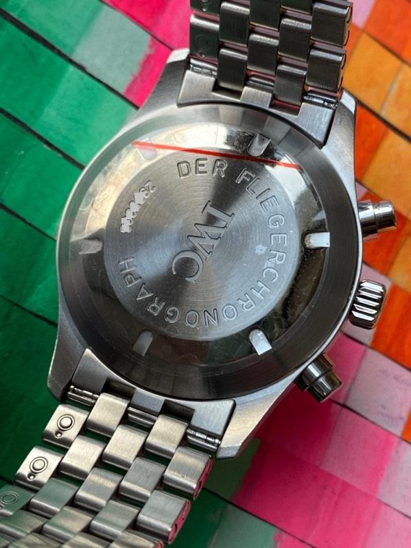 IWC Pilot Spitfire Automatic Chronograph 370618 Black Dial Bracelet & Strap
