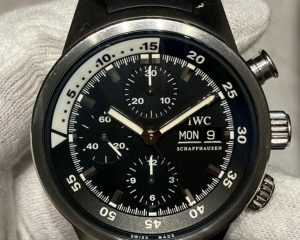 Aquatimer Chronograph Stainless Steel Black Dial IW371933