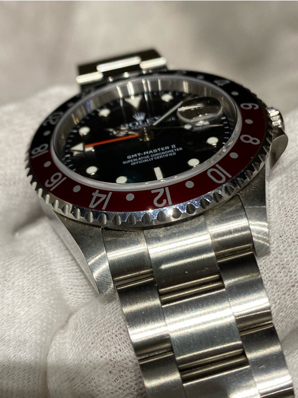 "Rolex GGMT-Master II 16710 Red-Black ""Coke Bezel"" F Series"