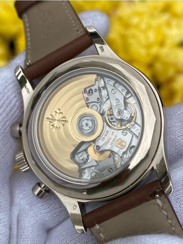 Patek Philippe Annual Calendar Chronograph 18K White Gold Blue Dial 5960/01G-001