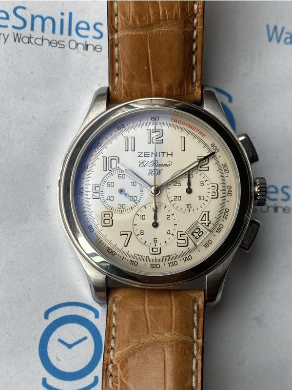 Zenith El Primero Chronograph Date Silver Dial 01. 0500.420