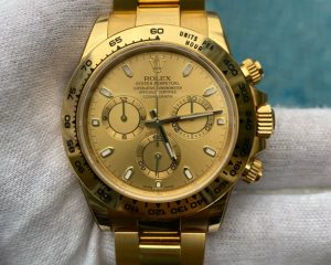 Rolex Daytona 18K Yellow Gold in Gold Dial 116508