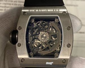 Richard Mille RM 030 Titanium on Black Rubber with Grey Skeleton