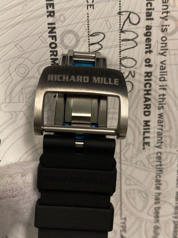 Richard MilleRM 030 Titanium on Black Rubber with Grey Skeleton
