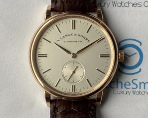 A Lange & Sohne Saxonia 18K Rose Gold 35mm Manual Movement 219.032