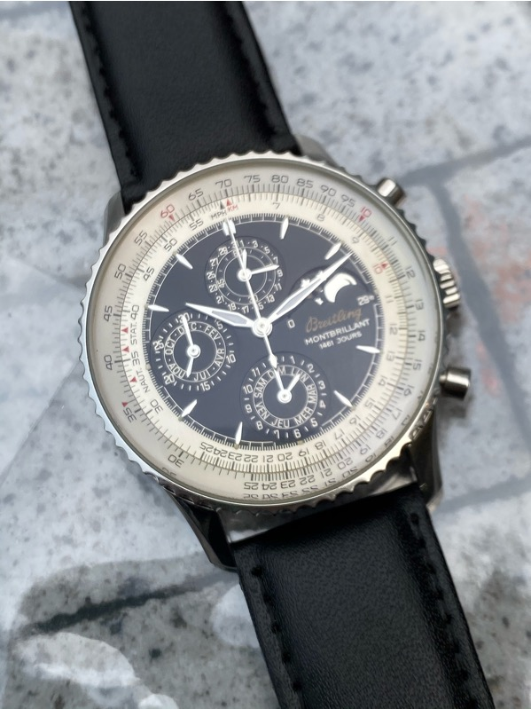BREITLING Montbrillant 1461 Jours Moon Phase Chronograph Automatic A19030