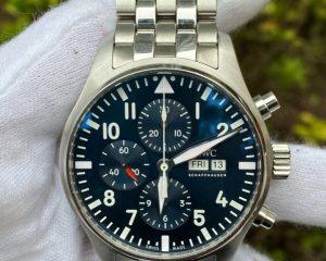 """IWC Pilot Chronograph Edition """"Le Petit Prince """" IW377714 Blue Dial /w Steel Bracelet"""