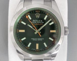 Rolex Milgauss Green Black dial 116400GV