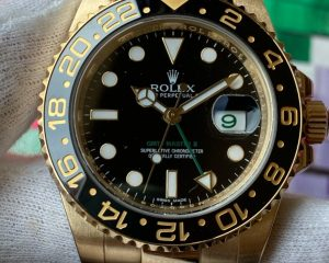 Rolex GMT Master II 18K Yellow Gold 116718LN Black Dial