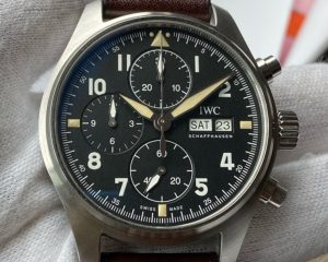 IWC Pilot Spitfire Chronograph 41mm Black Dial Automatic Steel IW387903
