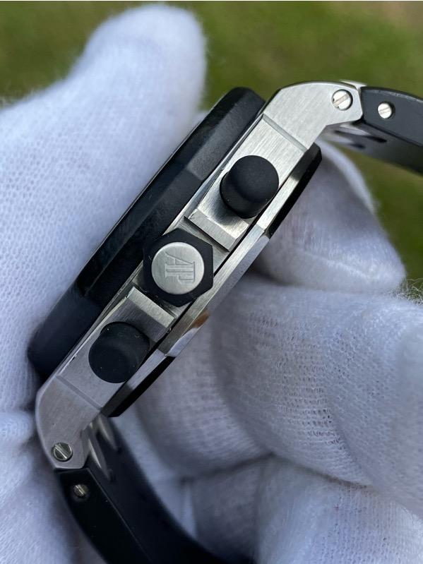 Audemars Piguet Lady Royal Oak Offshore Chronograph Diamond Bezel Black Dial 26048SK.ZZ.D002CA.01