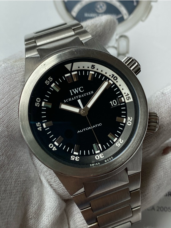 IWC Aquatimer Stainless Steel Black Dial IW354807