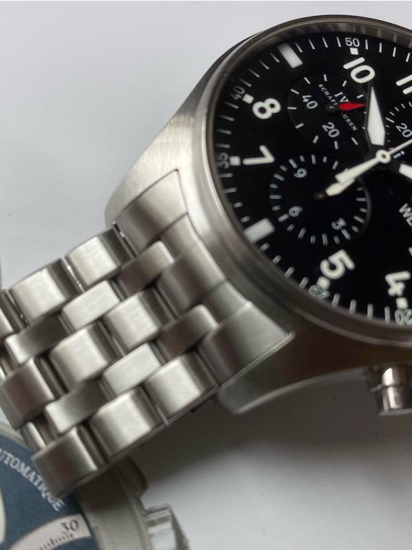 IWC Pilot Chronograph Black Dial IW377714 /w Bracelet