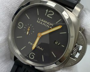 PANERAI PAM351 Luminor 1950 3 Days Automatic Titanium 44mm Brown Dial