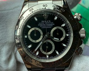 Rolex Daytona White Gold Black Dial Diamond Index 116519