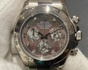 Rolex Daytona 18k White Gold Mop Diamond Index Dial 116509